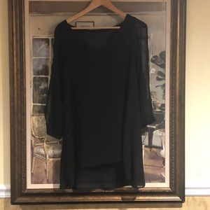 Tops - Black, split sleeves, beautiful top shear sleeves